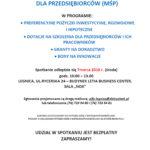 """Spotkanie informacyjne """"DLA PRZEDSIĘBIORCÓW (MŚP)"""""""